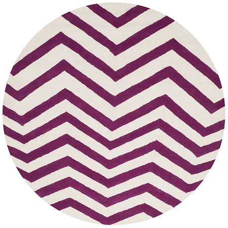 Safavieh Carter Chevron Hand-Tufted Wool Rug, One Size , Pink