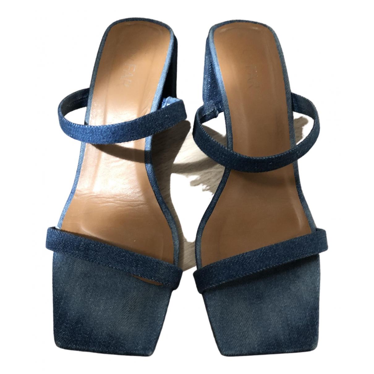 By Far N Blue Cloth Sandals for Women 38 EU