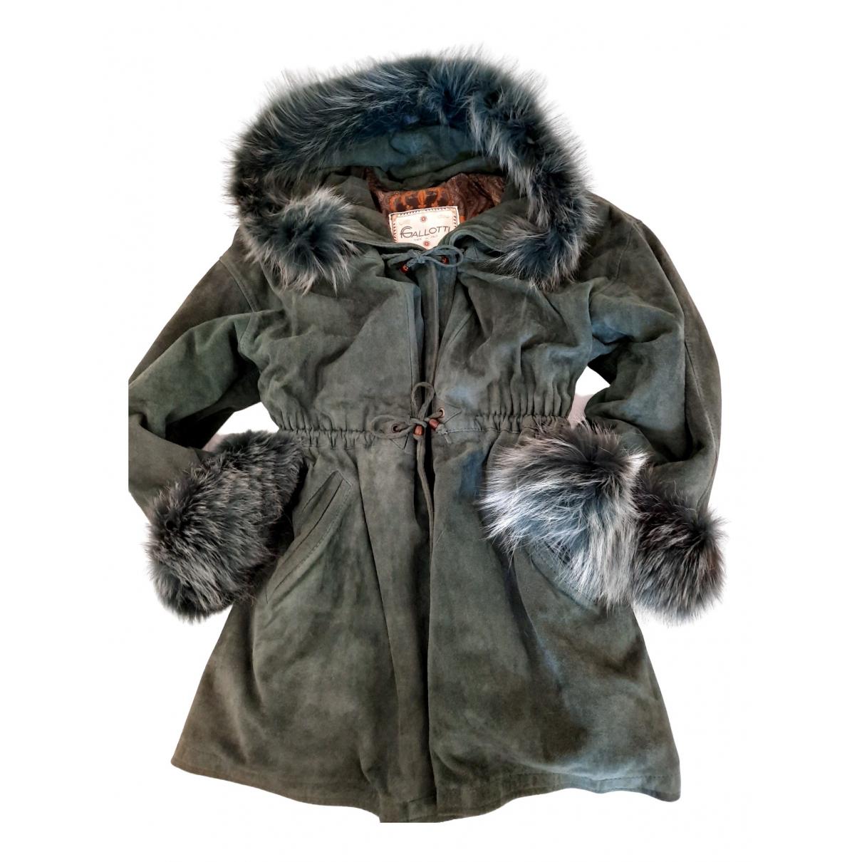 - Manteau   pour femme en suede - vert