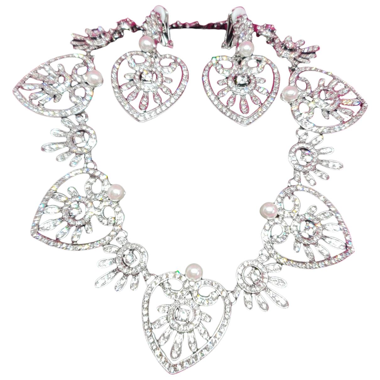 Oscar De La Renta N Silver Crystal Jewellery set for Women N