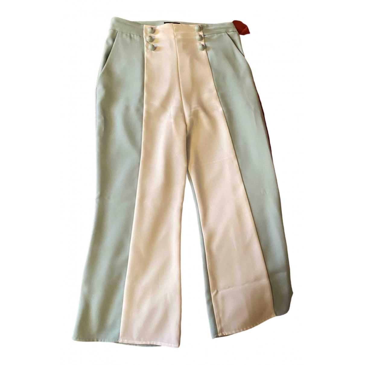 Pantalon en Poliester Blanco Elisabetta Franchi