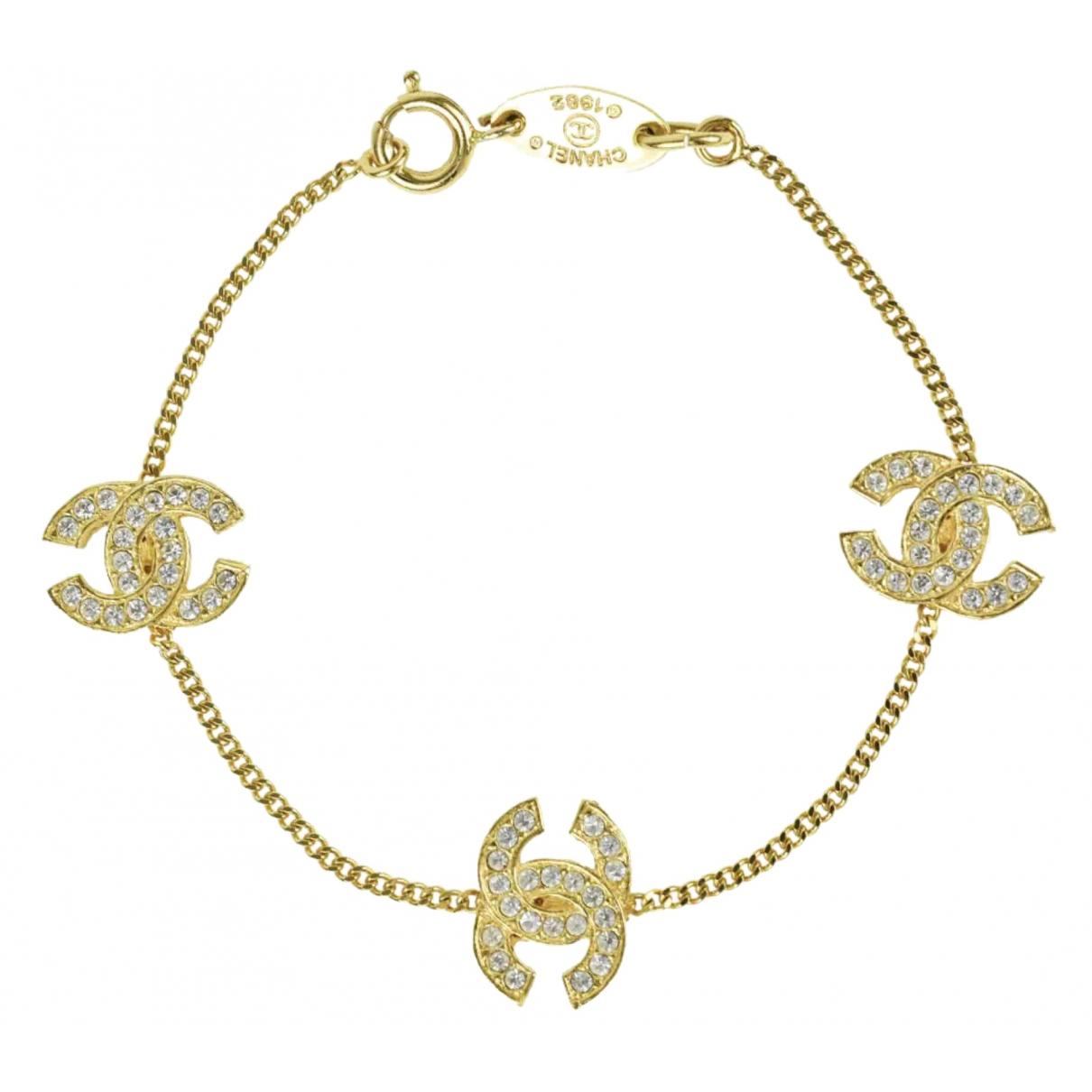 Chanel - Bracelet CC pour femme en metal - dore