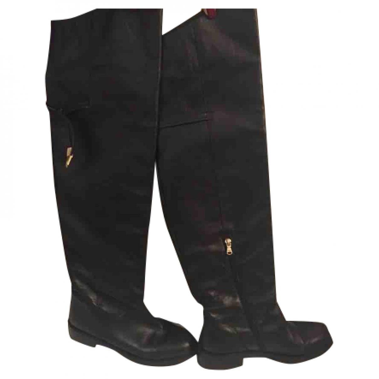 Patrizia Pepe - Bottes   pour femme en cuir - noir