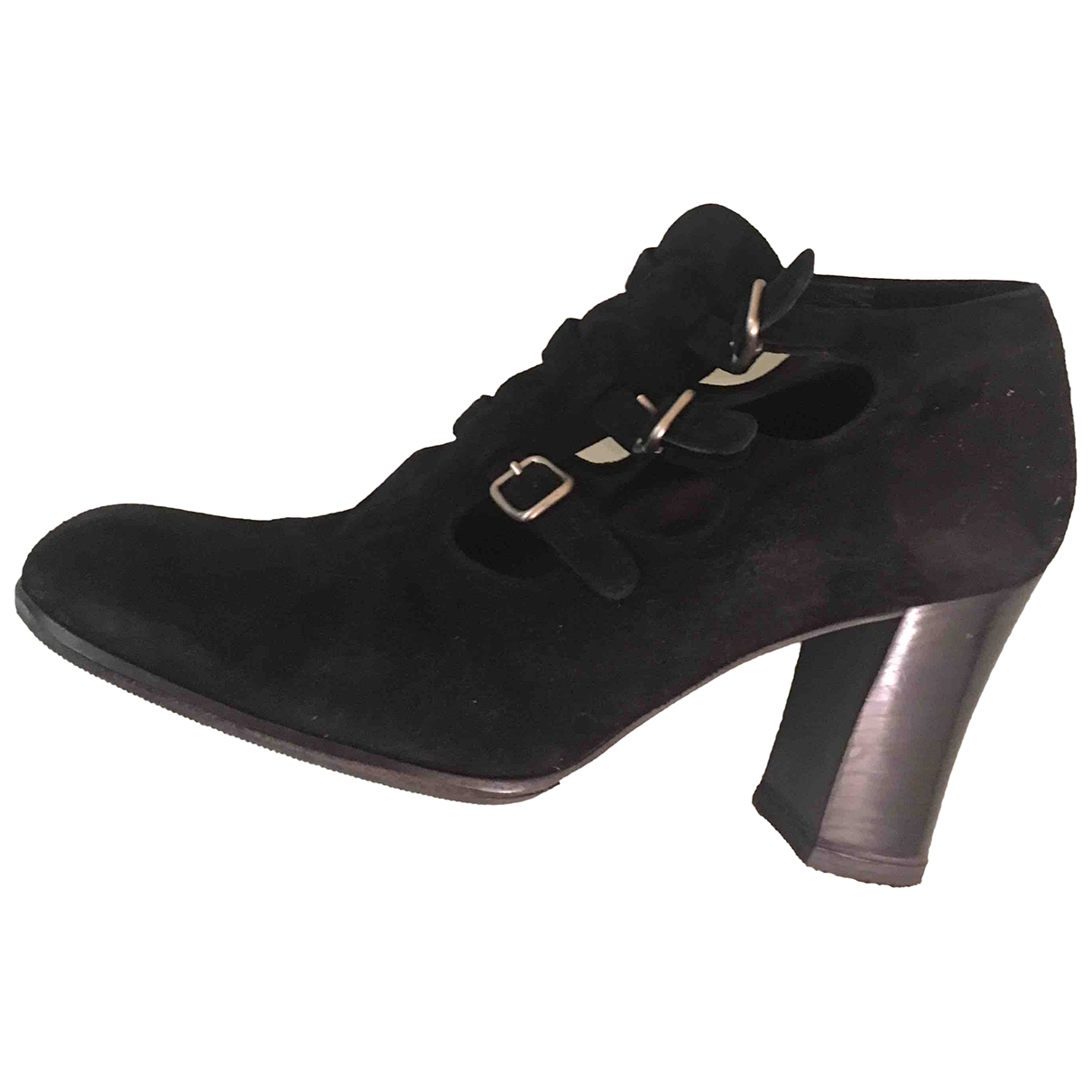 Prada \N Black Suede Ankle boots for Women 37 EU