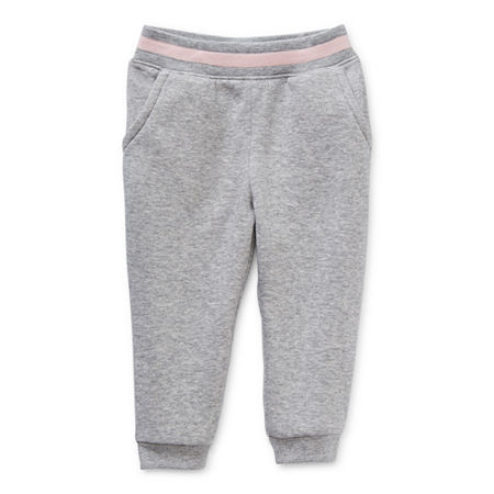 Okie Dokie Baby Girls Cinched Pull-On Pants, 3 Months , Gray