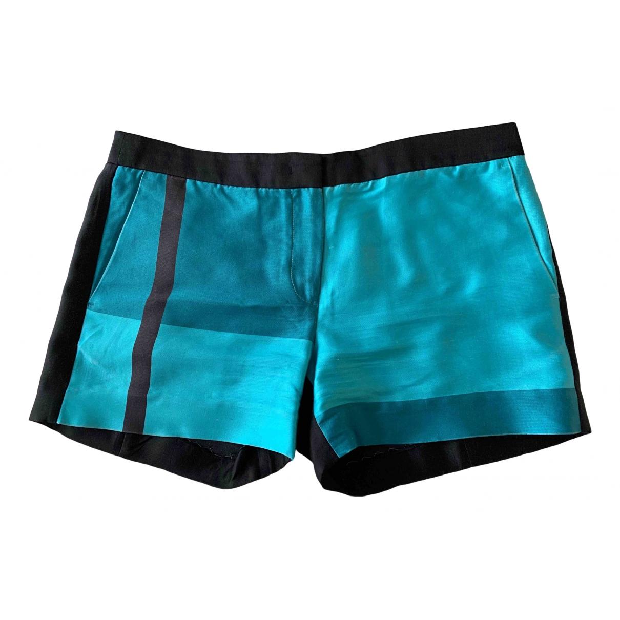 Calvin Klein \N Shorts in  Tuerkis Seide