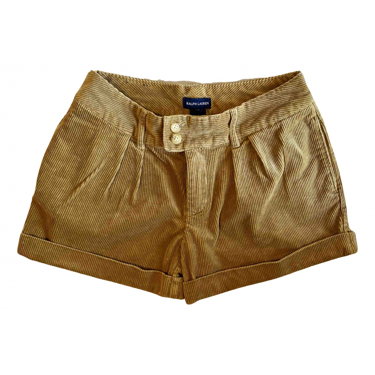 Ralph Lauren N Camel Cotton Shorts for Women XXS International