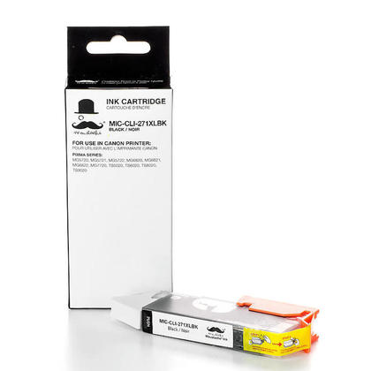 Compatible Canon PIXMA TS6020 Black Ink Cartridge by Moustache, High Yield