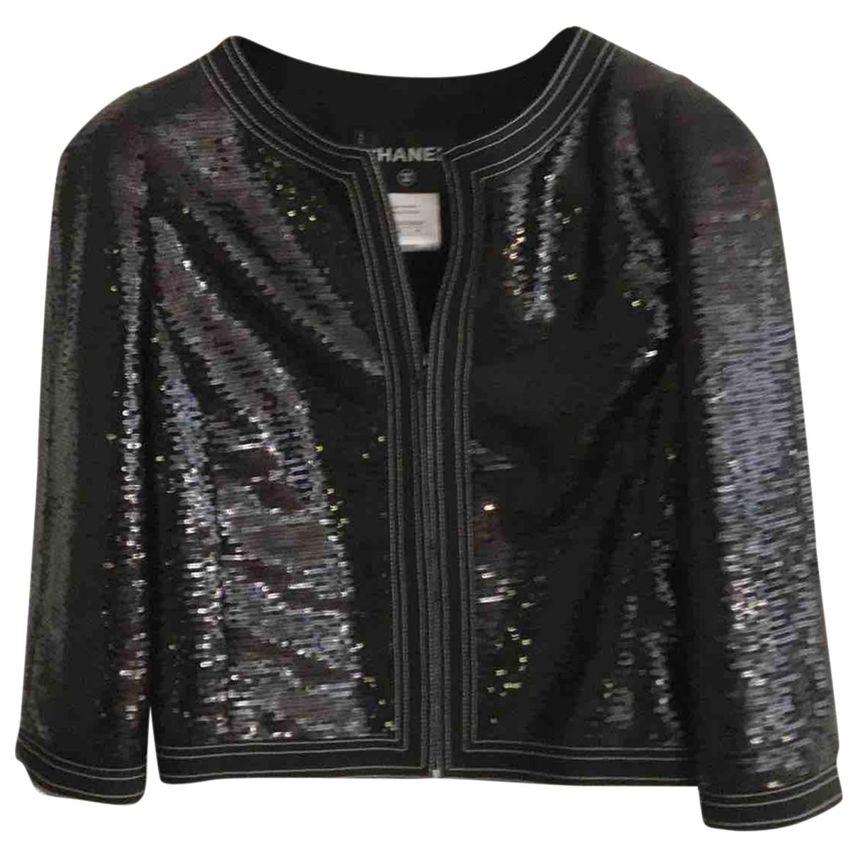 Chanel - Veste   pour femme en a paillettes - noir