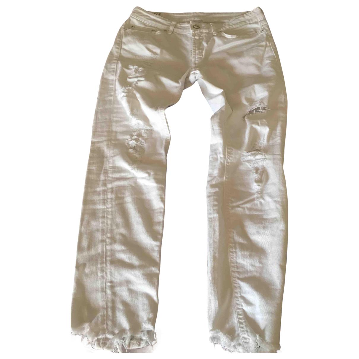 Dondup \N White Denim - Jeans Trousers for Women 32 FR