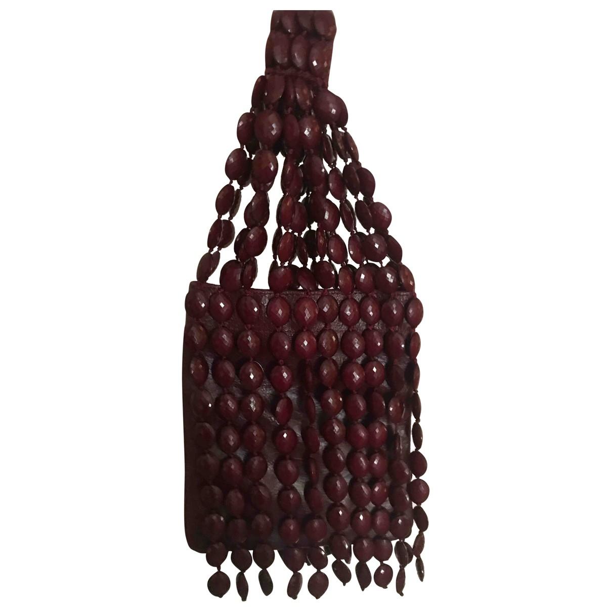 Maliparmi \N Handtasche in  Bordeauxrot Leder