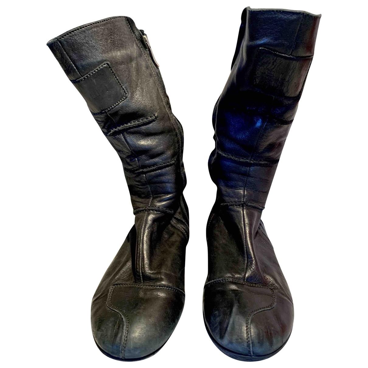 Barbara Bui \N Black Leather Boots for Women 38.5 EU
