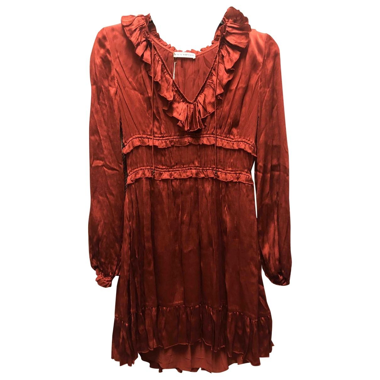 Ulla Johnson - Robe   pour femme en soie - rouge