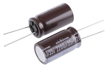 Nichicon 2200μF Electrolytic Capacitor 35V dc, Through Hole - UPS1V222MHD (5)