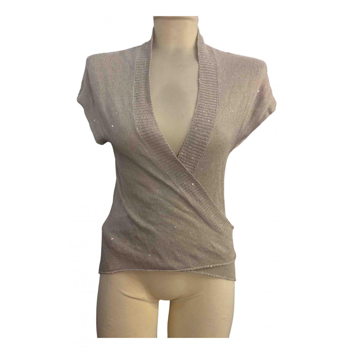 Brunello Cucinelli \N Grey Linen Knitwear for Women 44 IT