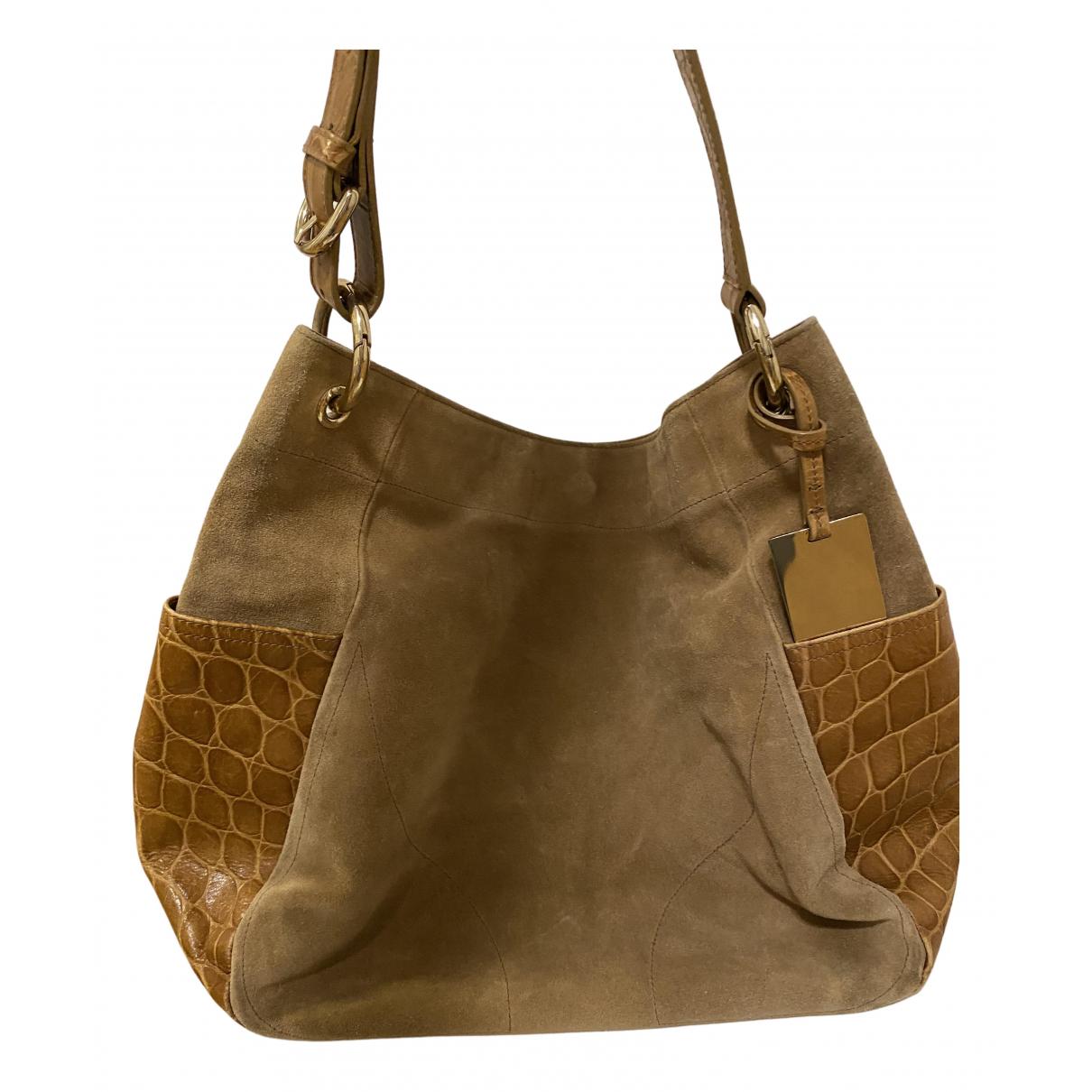 Furla N Camel Suede handbag for Women N