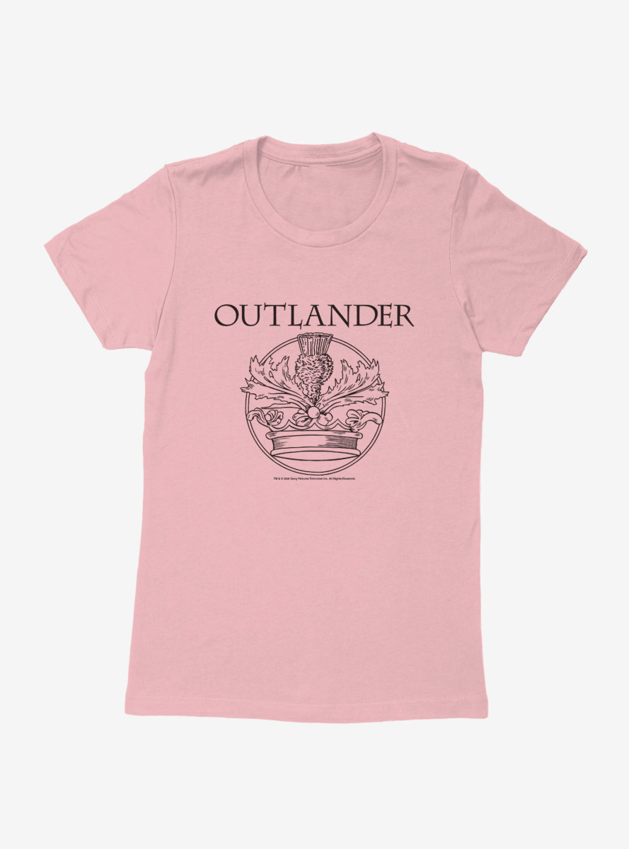 Outlander Crown Crest Womens T-Shirt