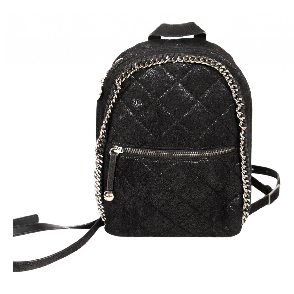 Stella Mccartney Falabella Go Black Cloth backpack for Women N