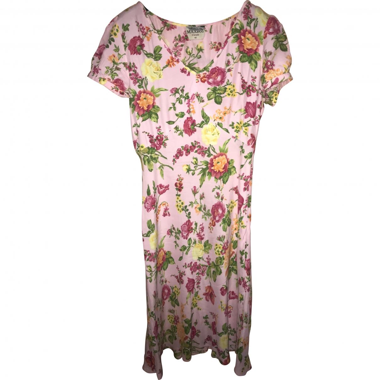 Max & Co \N Kleid in  Rosa Baumwolle