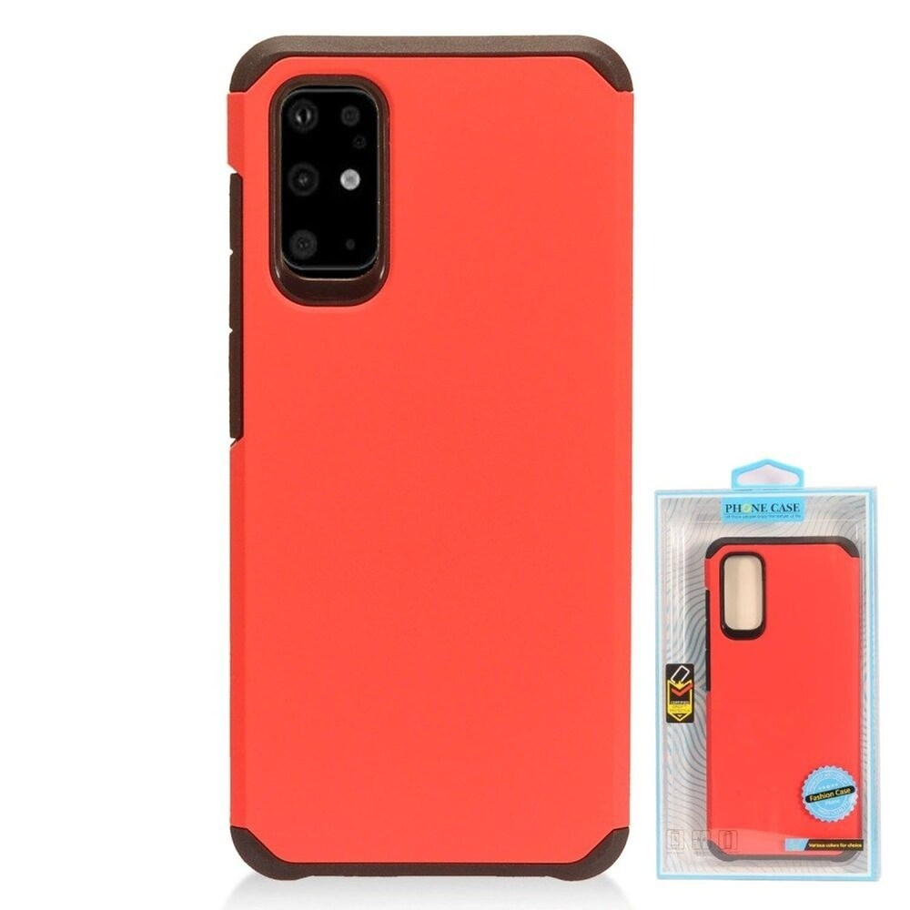 Insten Hard Dual Layer TPU Cover Case For Samsung Galaxy S20 Plus - Red/Black (Red)