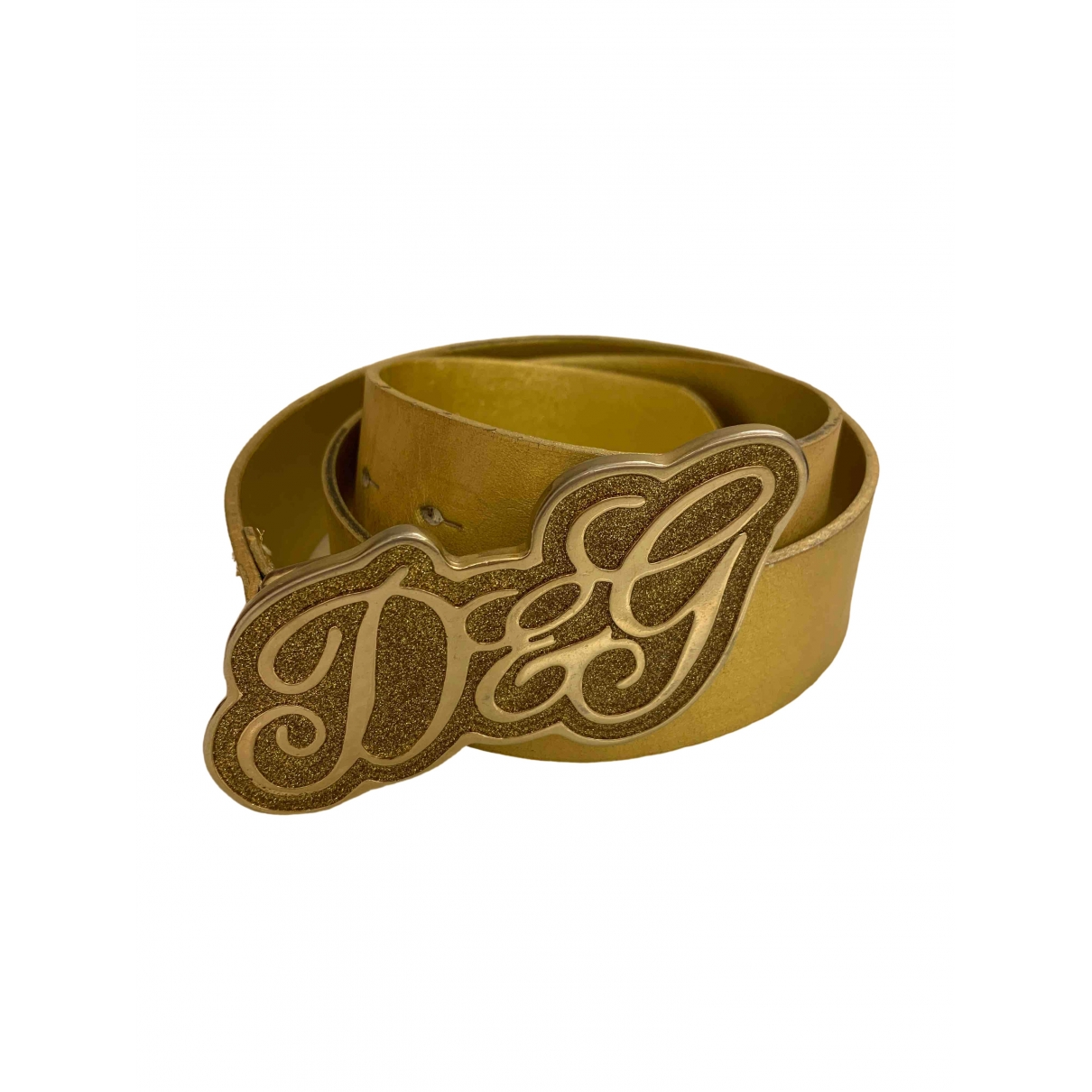 D&g \N Guertel in  Gold Leder