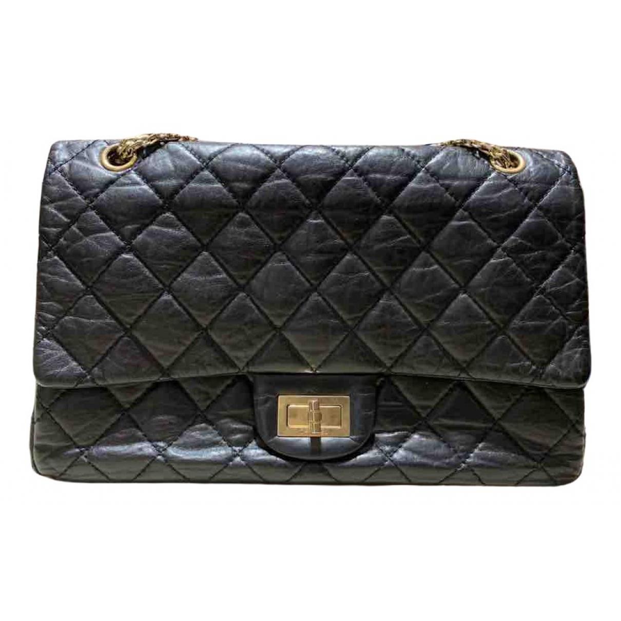 Chanel 2.55 Handtasche in  Schwarz Leder