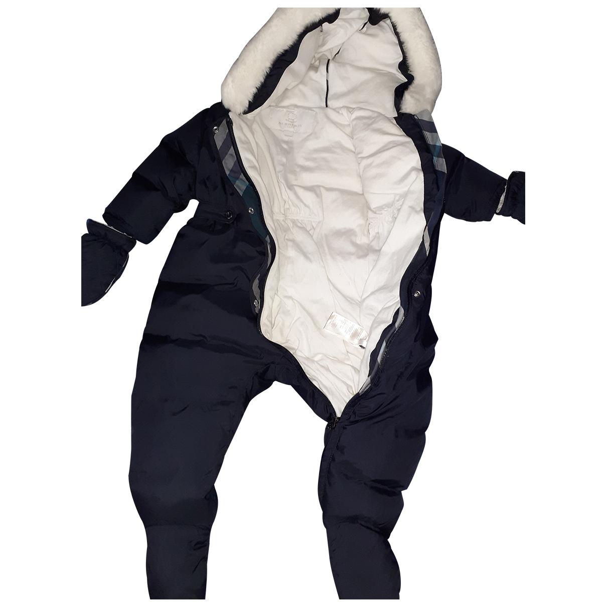 Burberry - Blousons.Manteaux   pour enfant en coton - anthracite