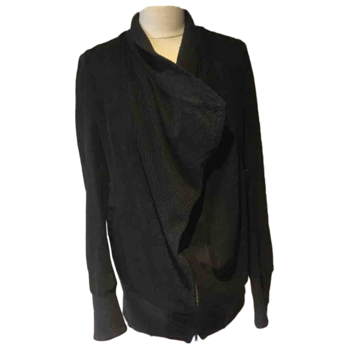 Isaac Sellam \N Black Leather jacket for Women 38 FR