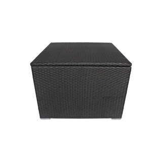 Santa Rosa Outdoor Wicker Storage Box by Christopher Knight Home (Grey)