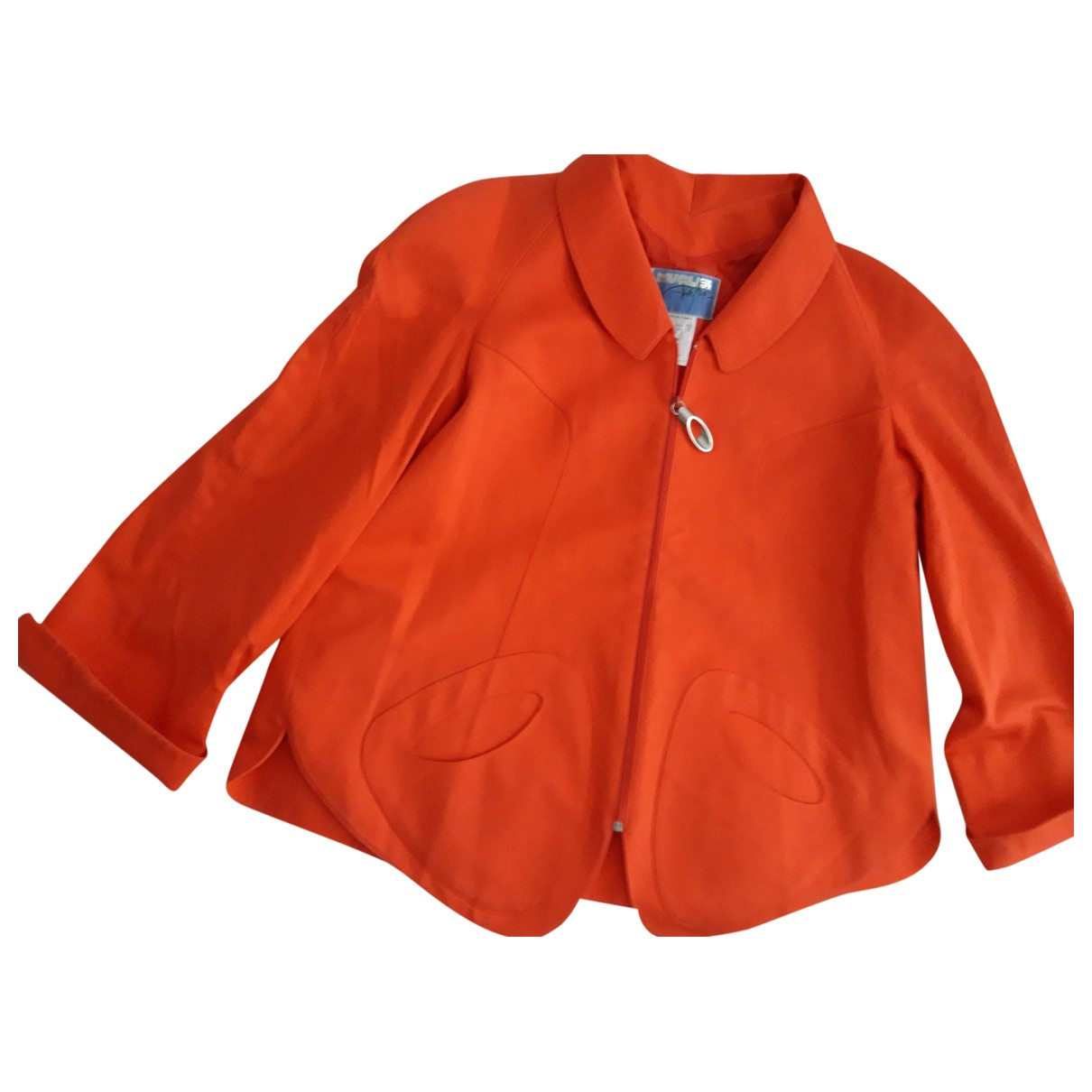 Thierry Mugler \N Orange Cotton jacket for Women 42 FR