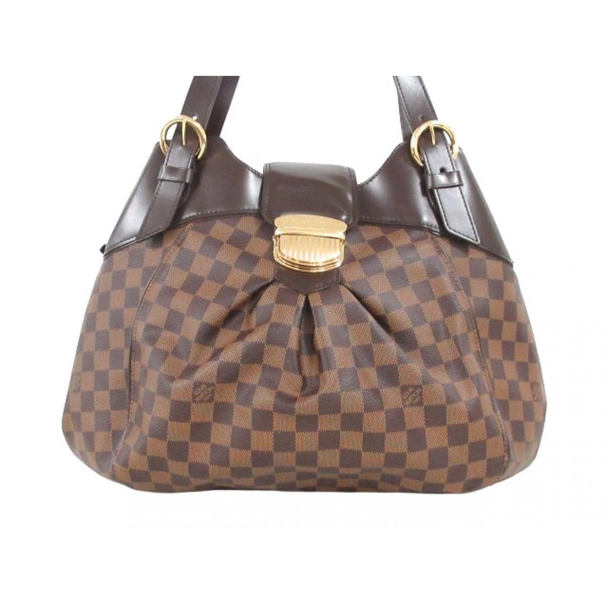 Louis Vuitton Sistina Handtasche in  Braun Leinen