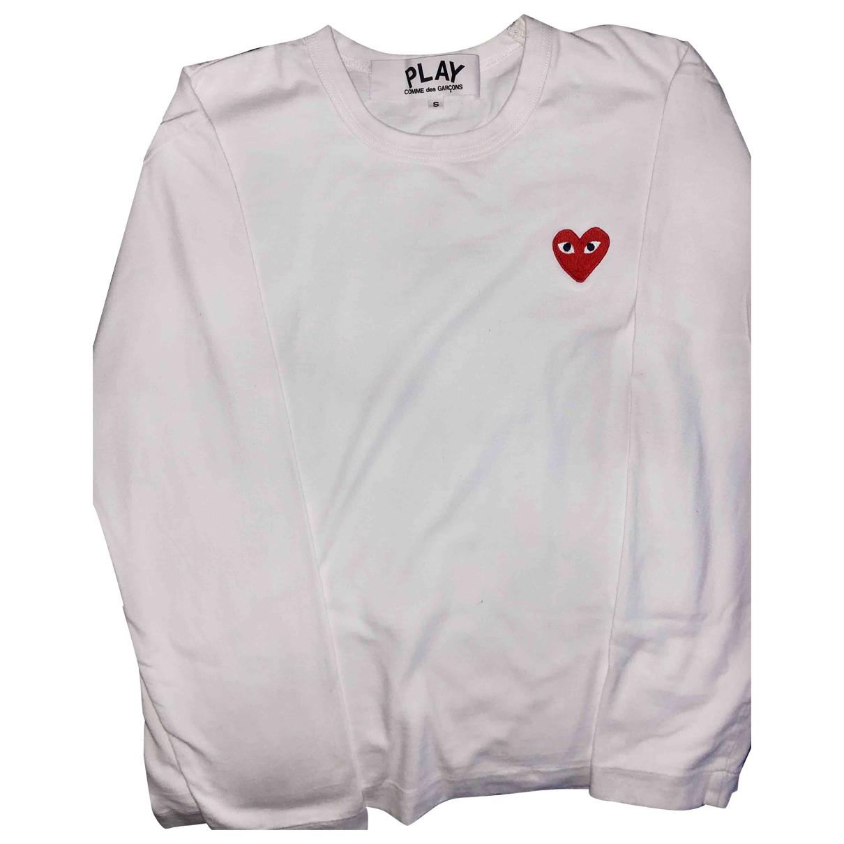 Play Comme Des Garcons - Tee shirts   pour homme en coton - blanc