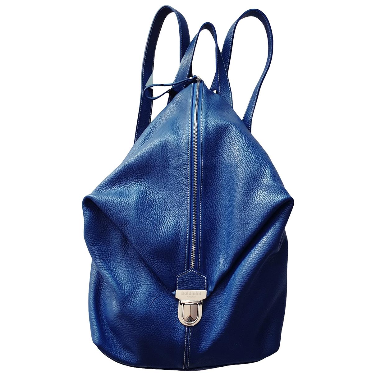 Baldinini \N Blue Leather backpack for Women \N