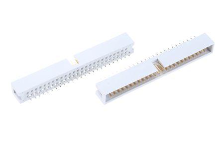 ASSMANN WSW , AWHW, 50 Way, 2 Row, Straight PCB Header (5)