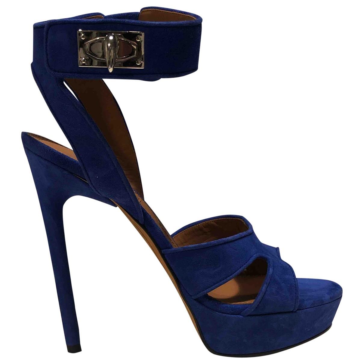 Givenchy - Sandales   pour femme en suede - bleu