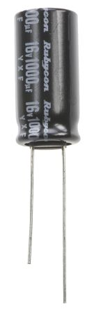 Rubycon 1000μF Electrolytic Capacitor 16V dc, Through Hole - 16YXF1000M10X20 (5)