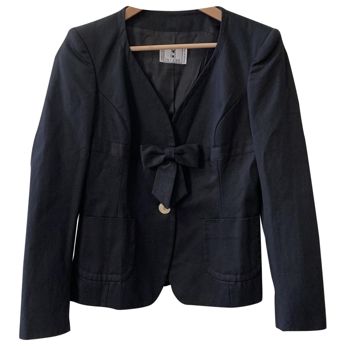 Valentino Garavani - Veste   pour femme en coton - noir