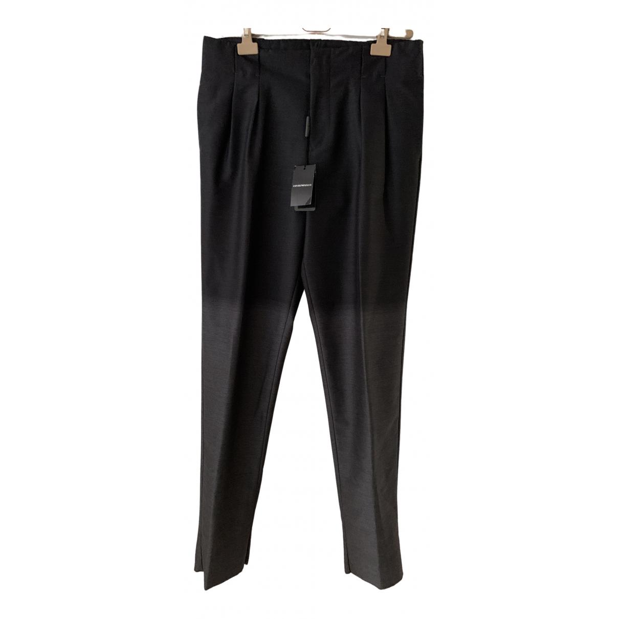 Pantalon de Lana Emporio Armani