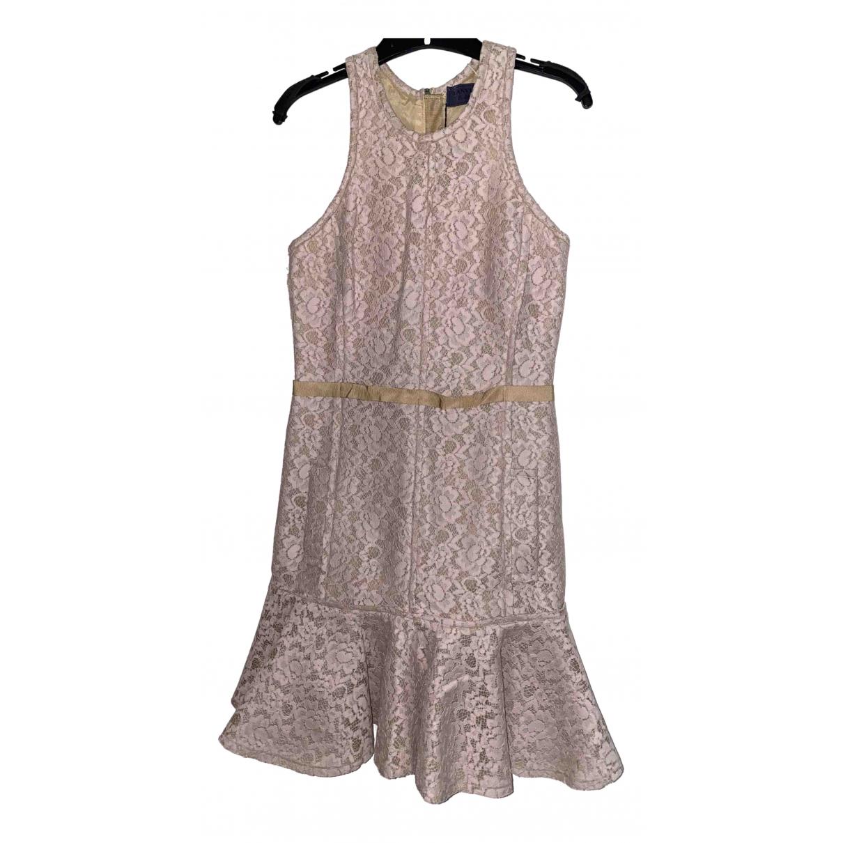 Lanvin \N Kleid in  Rosa Baumwolle