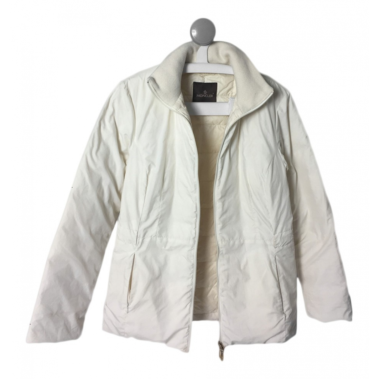 Moncler Classic Jacke in  Beige Polyester