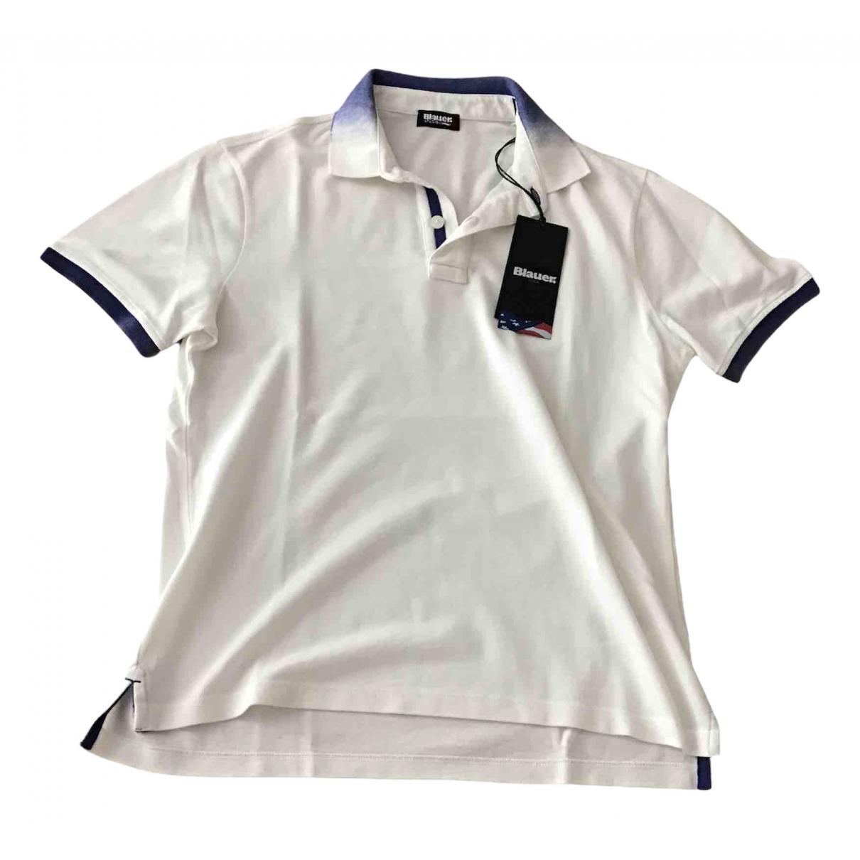 Blauer - Polos   pour homme en coton - blanc
