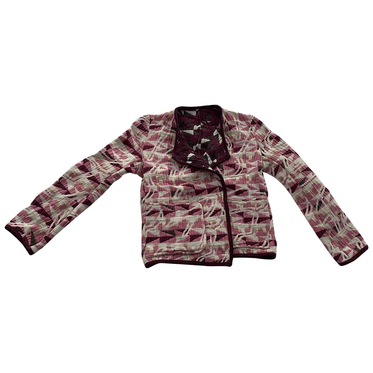 Maje \N Pink Cotton jacket for Women 36 FR