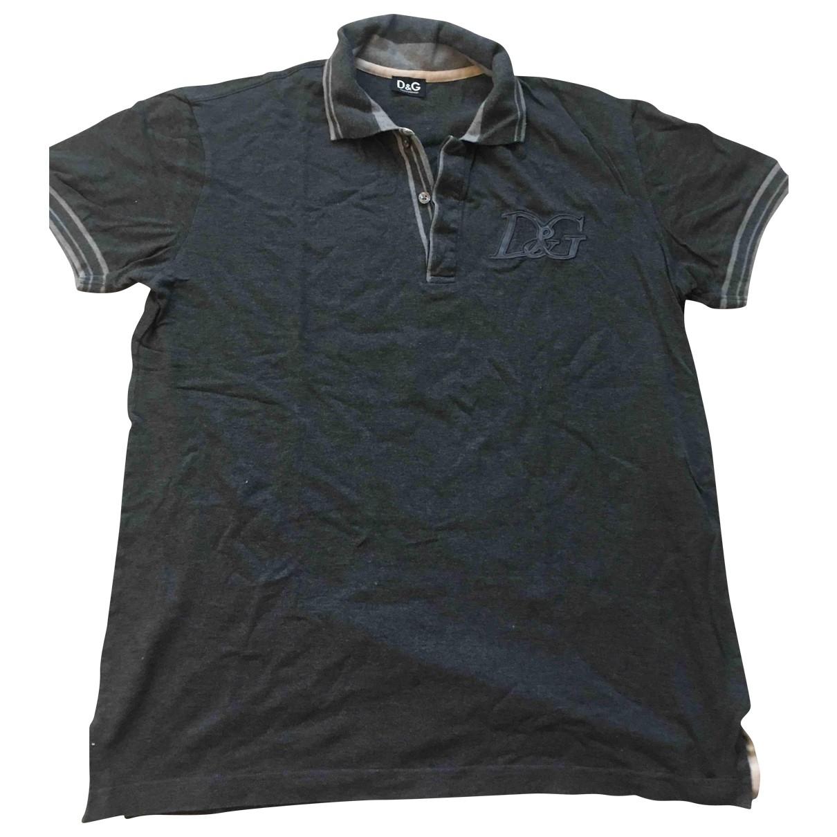 D&g - Polos   pour homme en coton - gris