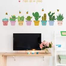 Pegatina de pared con estampado de plantas