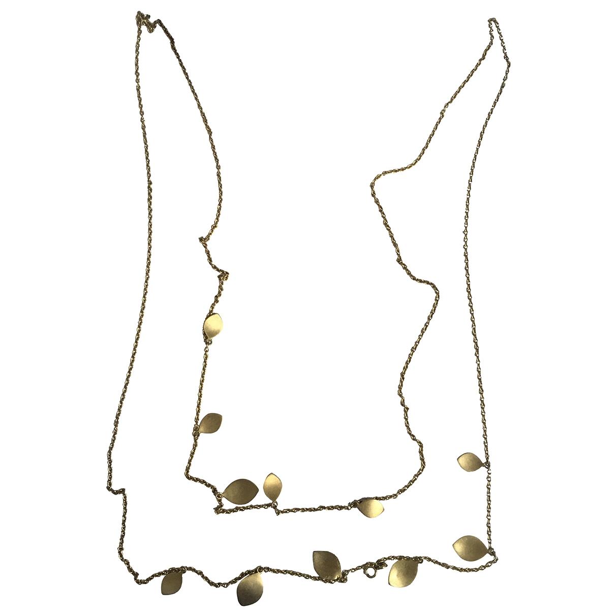 - Sautoir Motifs Floraux pour femme en plaque or - dore