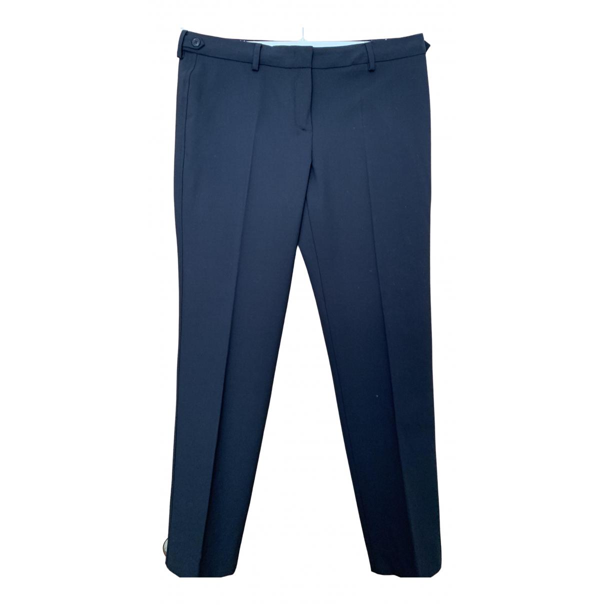 Max Mara Weekend \N Navy Wool Trousers for Women 14 UK