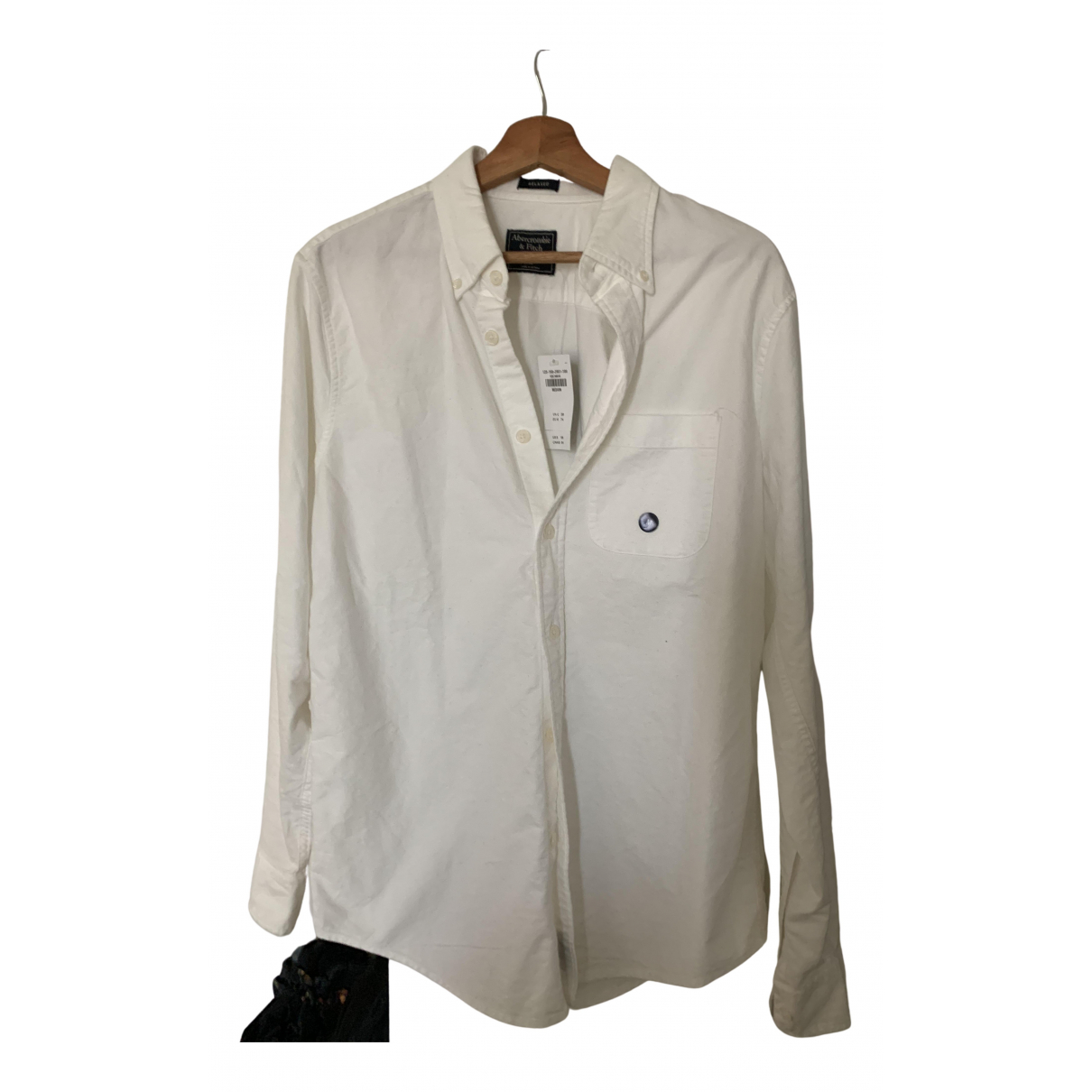 Abercrombie & Fitch N White Cotton Shirts for Men M International