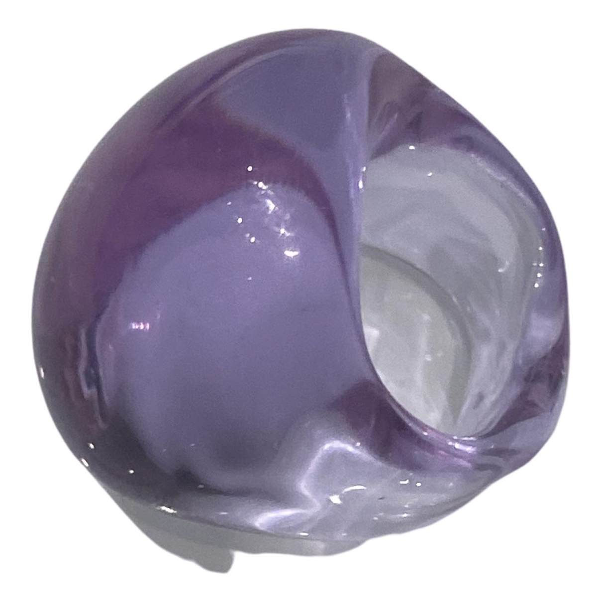 Non Signé / Unsigned \N Purple Glass ring for Women 49 MM