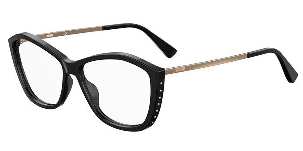 Moschino MOS573 807 Women's Glasses Black Size 55 - Free Lenses - HSA/FSA Insurance - Blue Light Block Available