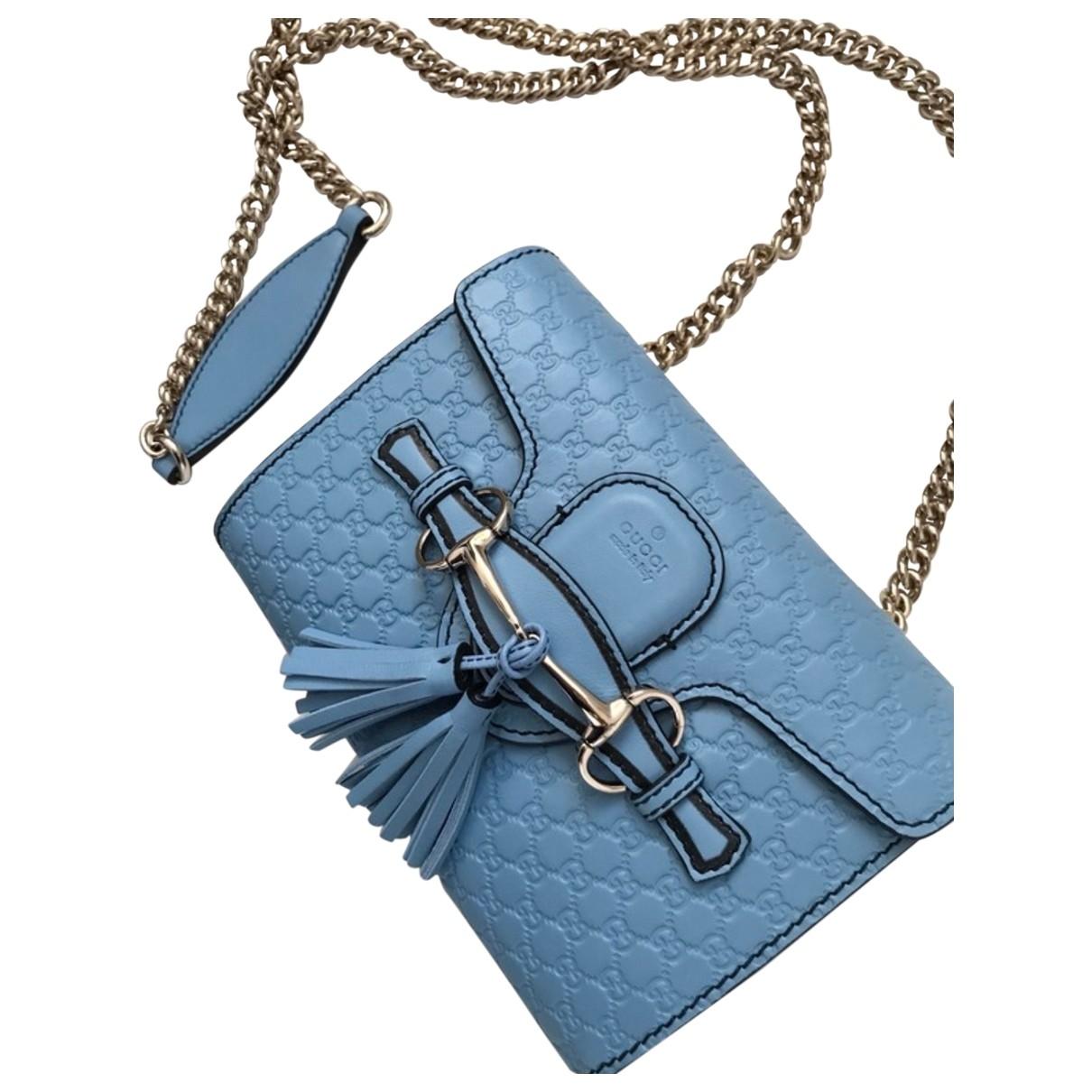 Gucci Emily Blue Leather handbag for Women \N